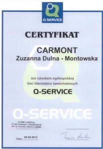 certyfikat q-serwis